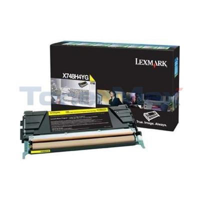 LEXMARK X748 RP PRINT CART YELLOW 10K TAA